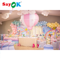 1.5m(5ft)H PVC Half Hot Air Balloon Inflatable baby shower Balloons for Girl,Boy,Kids Birthday Baby Shower Party Decoration