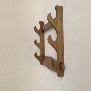 Han Sword Stand Wall Mounted Sword Stand Multi-storey Solid Wood Sword Rack Sword Rack Support Hanging фото