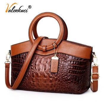 Bolsas de luxo das mulheres sacos de designer crossbody sacos de couro de crocodilo feminino bolsa de ombro das senhoras tote bolsa retro 1