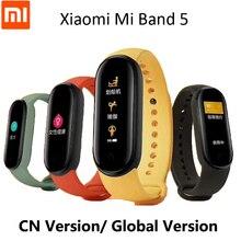 Xiaomi Mi Band 5 Vòng Tay Thông Minh Theo Dõi Oxy Trong Máu Nhịp Tim Theo Dõi Giấc Ngủ Bước Bơi Thể Thao Màn Hình Ứng Dụng Đẩy báo Động