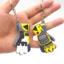 Glove Shape Motorcycle car keychain 3D  key ring for bmw key chain Yamaha VR46 llavero moto vespa Honda