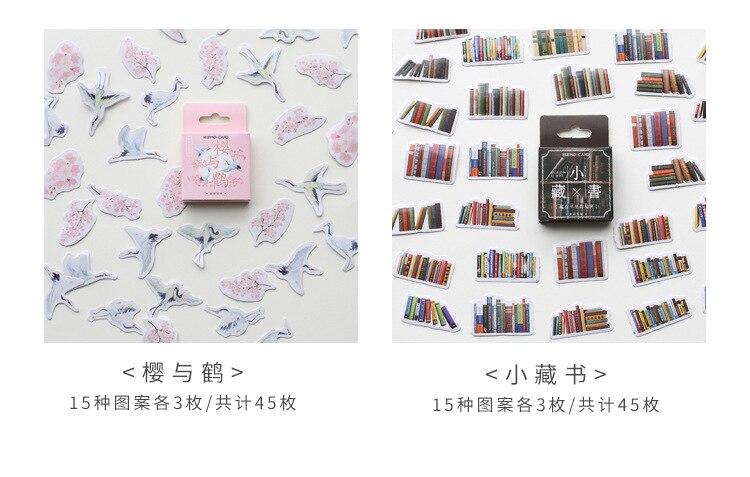 Mohamm 45 штук в штучной упаковке, наклейки s Life style, серия Ins, декорация, книга, цветок, декоративные наклейки, хлопья, скрапбукинг, подарок для девочки, школы S