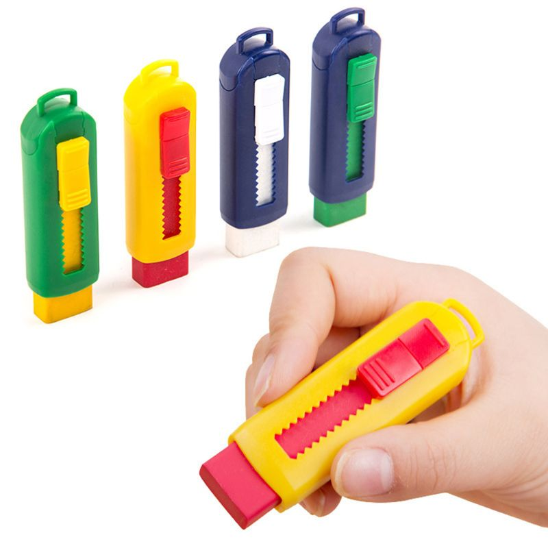 Cute Mini Eraser For Kids Soft Retractable Creative Eraser Refill Stationery School Supplies