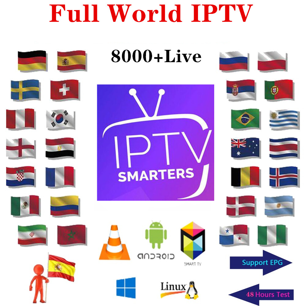 Premium IP TV Subscription IPTV Spain M3u 1 Year With 8000+ Live TV & + French Italy VOD Movies HD Xxx Channels List IPTV Serve