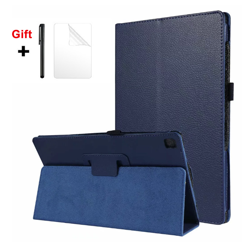2020 Case For Samsung Galaxy Tab S6 Lite 10.4 SM-P610/P615 Tablet Cover Stand Case Leather Smart Cover +Film Pen