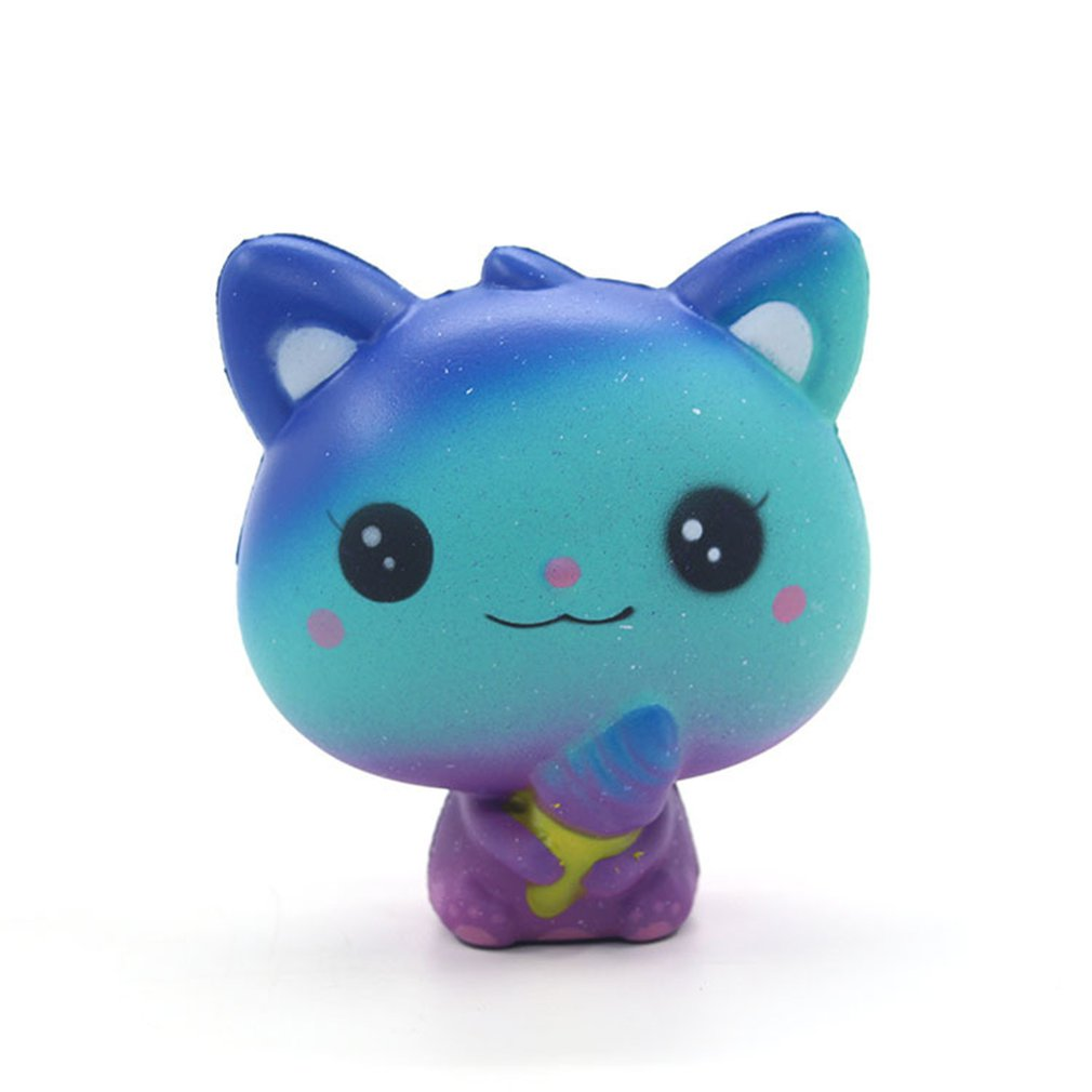 Jumbo Ice Cream Cat Slow Rising Stress Relief Galaxy Toy Squishy Collections Diy Products Slow Rebound Ice Cream Cat