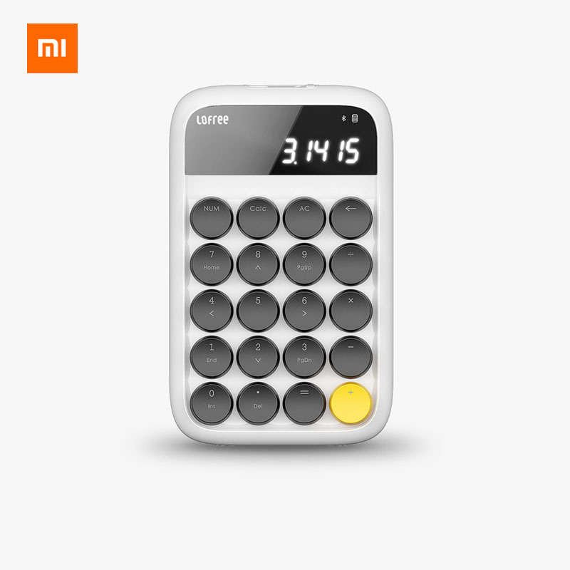 3 Colors Xiaomi 20Keys Lofree Bluetooth Numeric Keypad Mini Numpad Keyboard Wireless Desktop Compatible With Multiple Systems