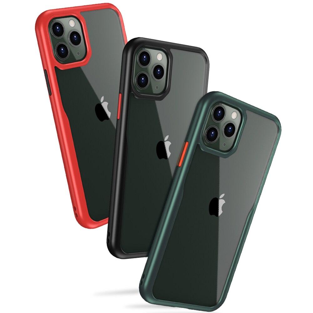Série iPhone 11 Pro Caso à prova de choque, [Grau militar Testado em Queda] [2nd Geração] Translucent Matte Caso com Bordas Suaves