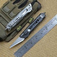 District 9 X Original Paper cutter Cuttin knife Titanium Handle Olfa stainless steel blade Pruning outdoor knives EDC tool