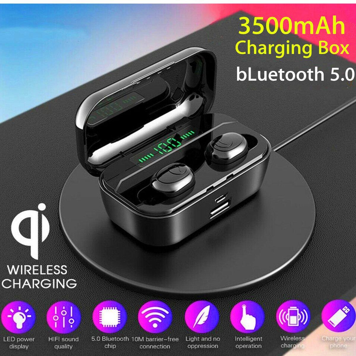 G6s Bluetooth 5.0 Earphones LED Display TWS Ture Wireless Stereo Mini Earbud IPX7 Waterproof Sports 2200/3500mAh Headset