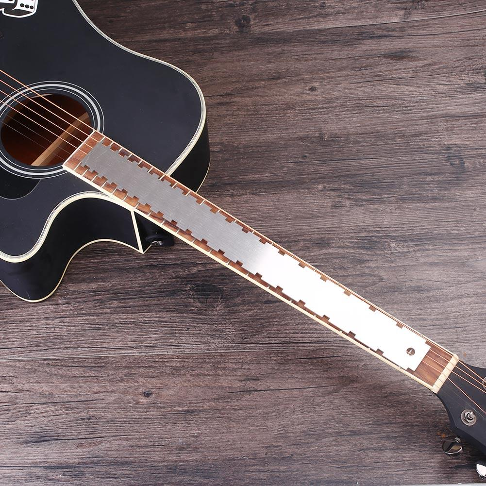 Luthier'S Tools Neck Notched Stainless Steel Fingerboards Guitar Tool Measure Tool Straight Edge Ruler Fret Board Most Electric