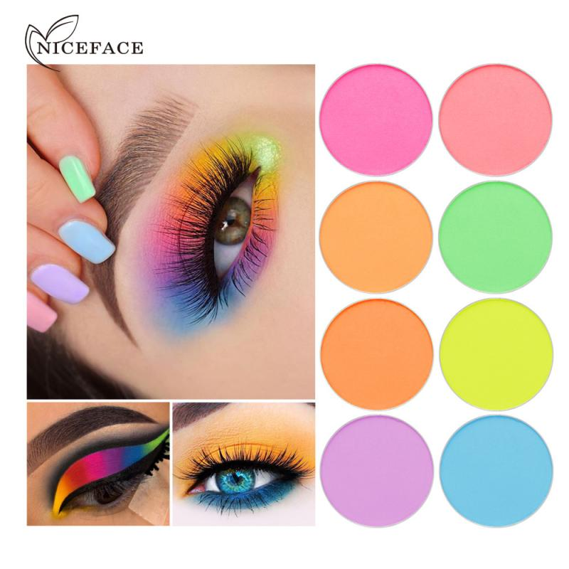 1 pc neon sombra de olhos pipipipipigmento mineral natural fosco sombra de olho em pó cosméticos definir maquiagem sombra de olho paleta tslm2