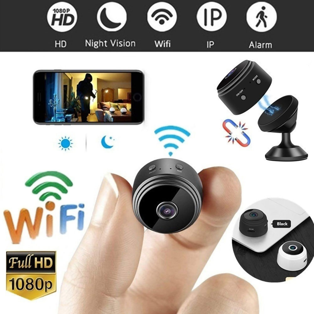 A9 HD 1080p Wifi Ip Mini Camera Small Wireless Home Baby Night Vision Security Micro Motion Detection Hisilicon Hi3518EV200 Cam