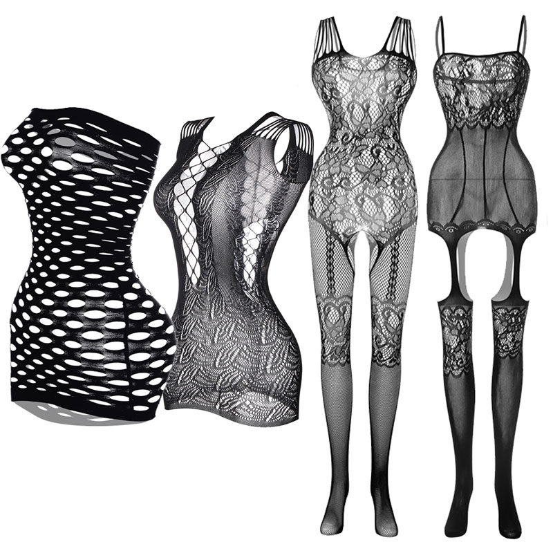 Baby Dolls Open Crotch Tights Sexy Lingerie Fishnet Pantyhose Plus Size Elasticity Stockings Transparent Women Exotic Dress