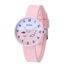 5 Colours Kids Quartz Watches Silicone Watches Strap Children Watches Student Cartoon Cute Student Little Fresh Watch
