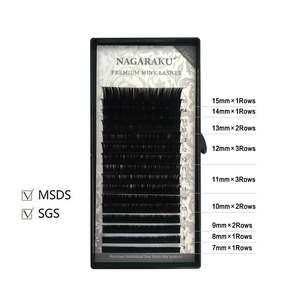 Image 2 - NAGARAKU 5 tace przedłużanie rzęs Mix 7 15mm sztuczne rzęsy wysokiej jakości faux mink pojedyncze rzęsy miękkie i naturalne