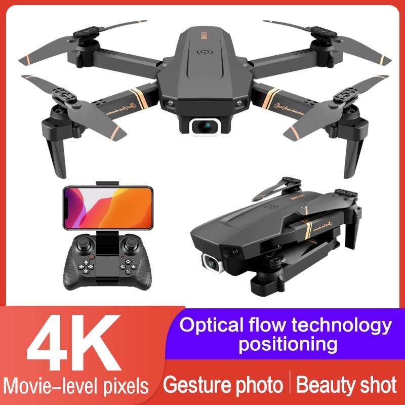 V4 WIFI FPV Drone WiFi video en vivo FPV 4K/1080P HD ancho ángulo de cámara plegable altitud Durable RC Drone