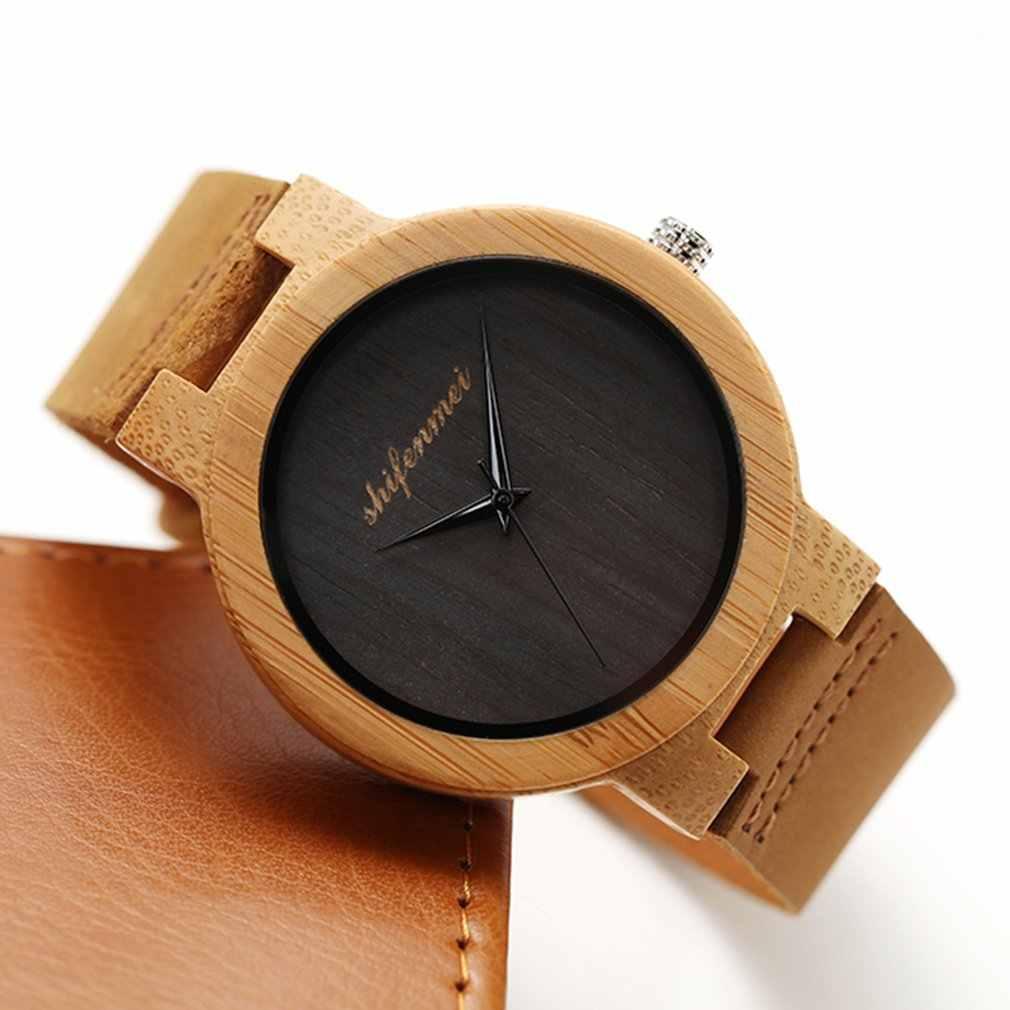 Reloj de cuarzo 2018 Simple ébano de madera de lujo banda de negocios hombres mujeres romano número al aire libre deportes de San Valentín reloj de pulsera regalos