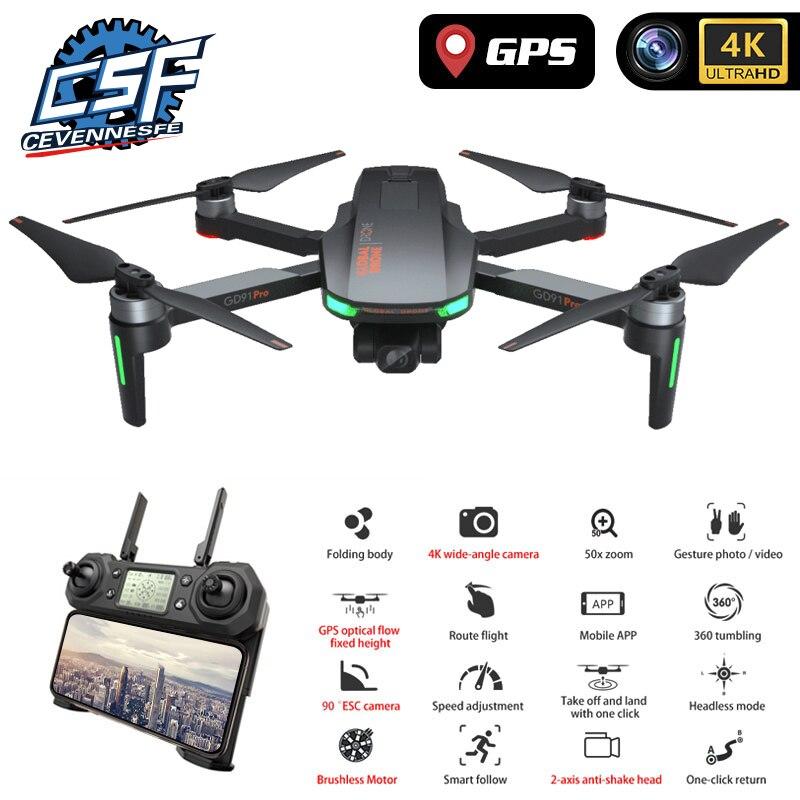 2020 novo 120 graus de grande angular hd, pixel 4k gps zangão com câmera 2-axis profesional dron quadrocopter vs sg906 pro fimi zino