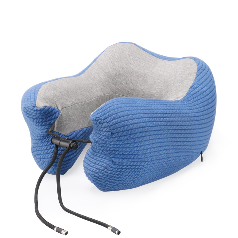 Memory Foam Travel Neck Pillow Breathable And Comfortable, U-Shaped Adjustable Airplane Car Flight Pillow