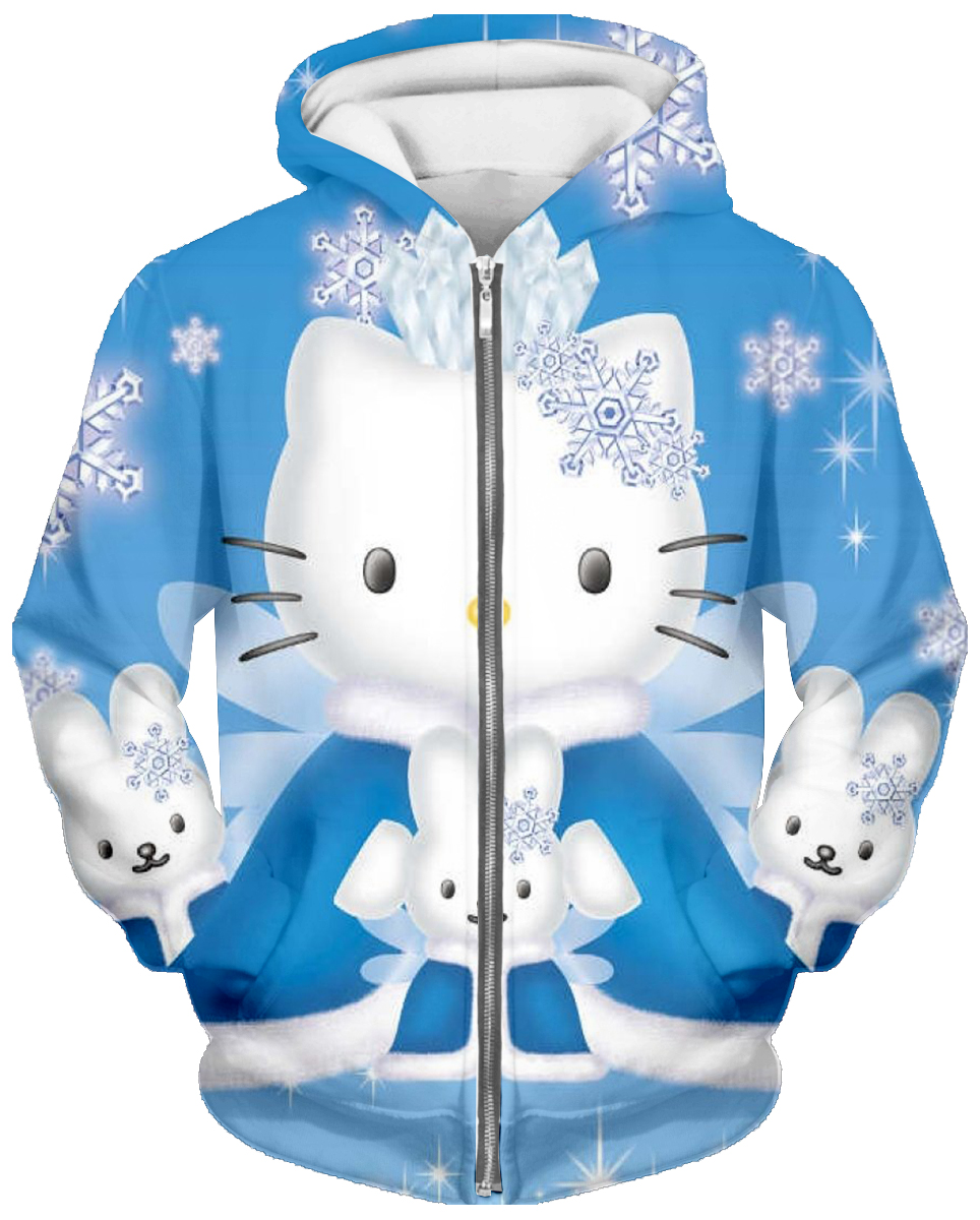 2019 New Hello Kitty 3D Print Set Hello Kitty Hoodie / Long Sleeve / Short Sleeve / Pants / Men's And Women's Casual Sweatshirt