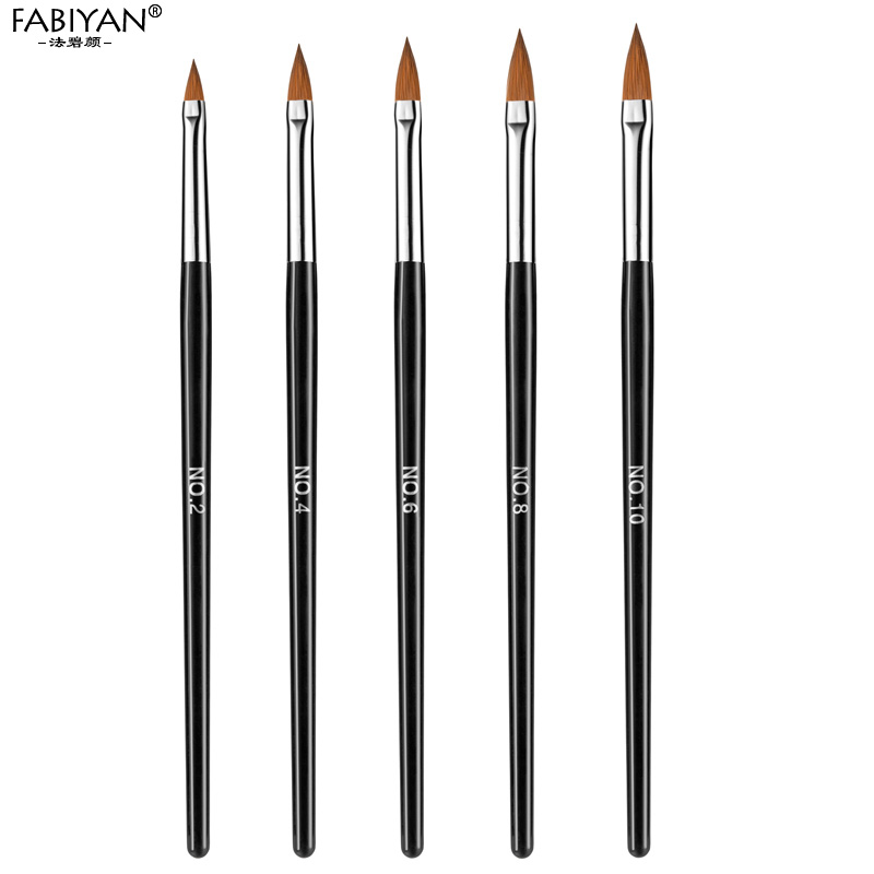 5pc/set Nail Art Brush Carving Dotting Pen Painting Drawing Sculpture Acrylic Manicure Tool UV Gel Polish Crystal Flower Builder