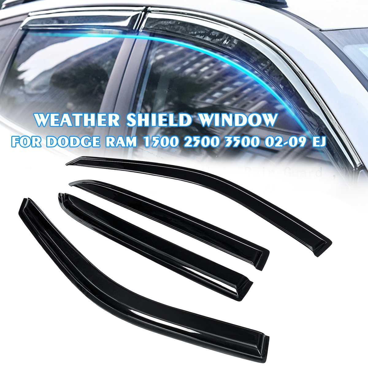 4 قطعة/المجموعة/مجموعة من حامي زجاج السيارة من Autoleader لـ دودج رام 1500 2500 3500 09-18 EJ واقي من المطر