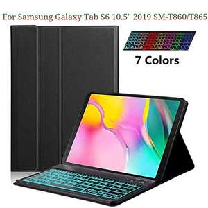 For Samsung Galaxy Tab S6 10.5 2019 SM-T860T865 Keyboard Case Slim Stand Cover Backlight Magnetically detachable Slim 7mm