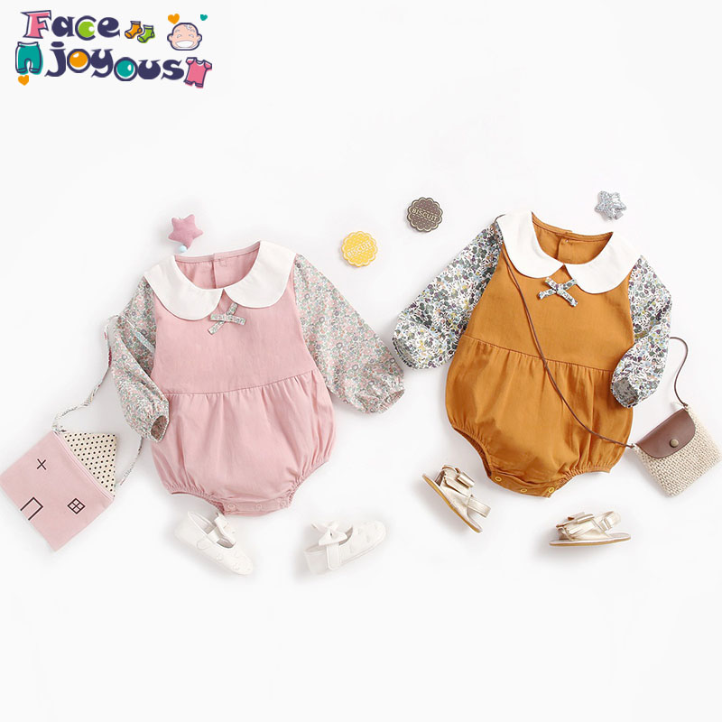 Baby Autumn Romper Cotton Baby Clothes 2019 Girls Newborn Clothing Infant Toddler New Born Floral Print Romper Jumpsuit