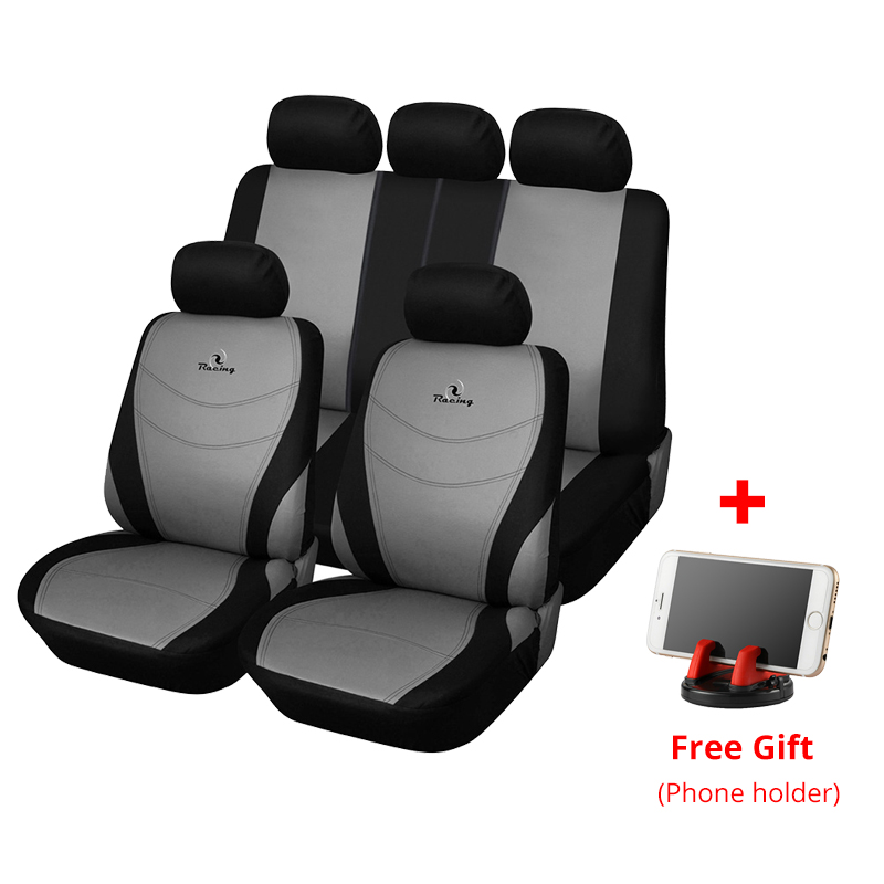 AUTOYOUTH Full Set of Car Seat Cover Car Protector Car Seat Decoration Gray