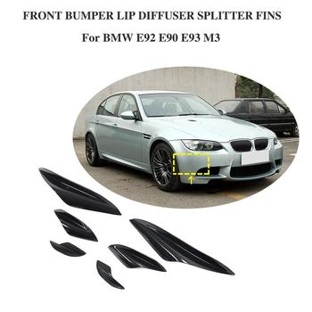Car Styling Car Body Modification Bumper Wind Knife For BMW E92 E90 90 E93 M3 2015-2012 Front bumper lip diffuser splitter fins image