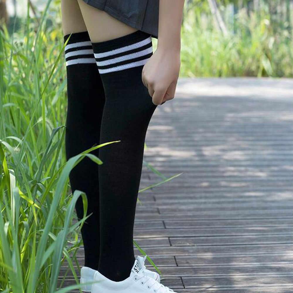 女性靴下ストッキング暖かいにわたって高腿ニーソックス長綿ストッキング medias ファッション腿の高膝高靴下