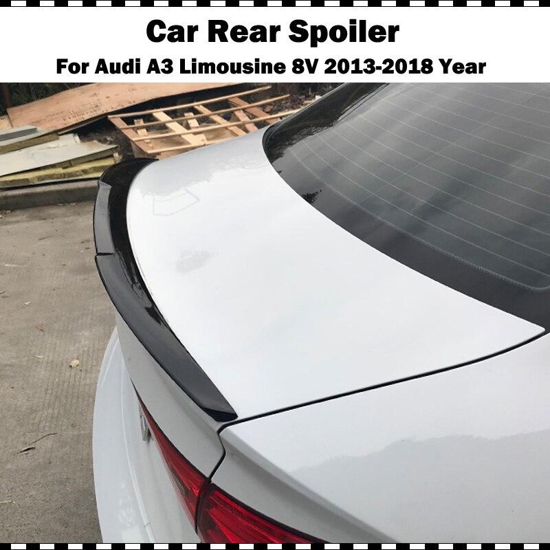 Spoiler de coffre arrière en plastique   Noir brillant, pour Audi A3 berline Limousine 2014-2018 A3 8V blanc brillant
