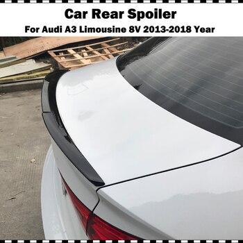 цена на V style ABS plastic gloss black rear trunk spoiler for Audi A3 Limousine sedan 2014-2018 A3 8V gloss white rear spoiler wing