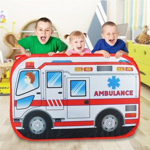 Image 2 - Детская игровая палатка, игрушечная Игровая палатка для машины скорой помощи, Игровая палатка для дома и улицы, детская игровая площадка, Игровая палатка