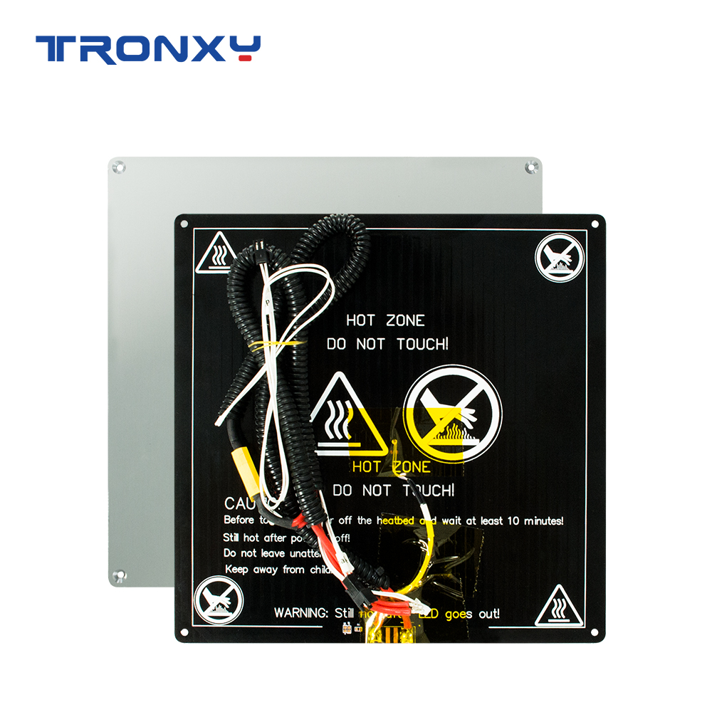 TRONXY 3D Printer Parts Heat Bed 220*220mm/255mm*255mm/330*330mm Standard Aluminum Plate Hot Bed 3D Printer Accessories Heatbed