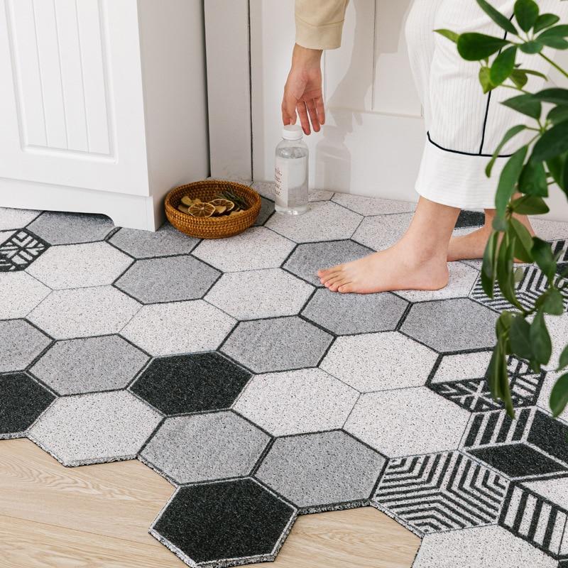 Low Profile Rubber Door Mat Heavy Duty Durable Doormat For Indoor And Outdoor Waterproof Easy Clean Home Rug Mats For Entry