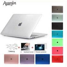 Kryształ \ matowe etui dla Apple Macbook Air Pro Retina 11 12 13 15 cal torba na laptopa, na nową książkę Mac Air Pro 13.3 przypadku A1932 + prezent