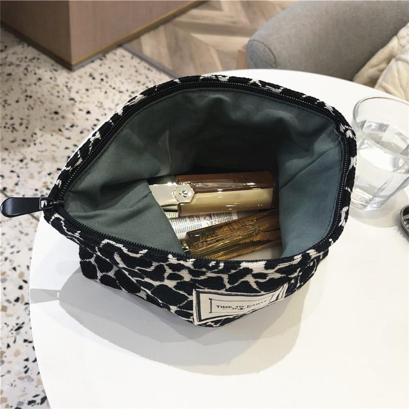 de maquiagem padrão zebra saco cosmético viagem