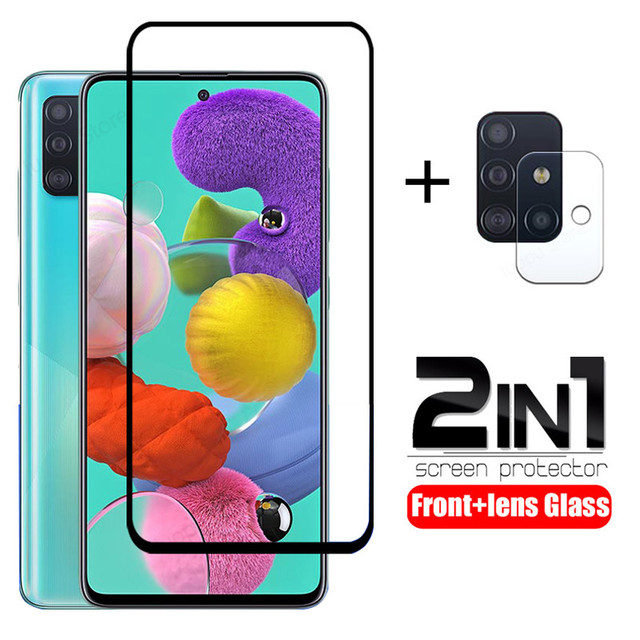 tempered glass for samsung A51 A71 A50 A30 a 51 a31 a21s glass camera lens screen protective for samsung galaxy A71 A51 glass 1