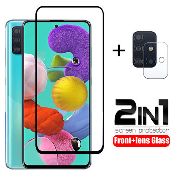 2 in 1 tempered glass for samsung A51 A71 A50  A70 screen protector camera lens SM-A515F protective glass for samsung A71 A51