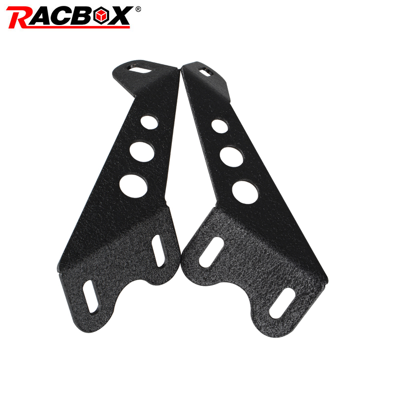 Pair Offroad LED Light Bar Mount Bracket Hood Mounting Fit Engine Cover Hood For Jeep Wrangler JK 07-15 Headlight Fog Light
