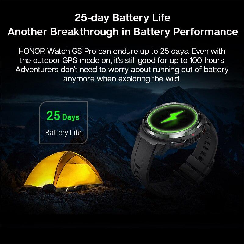 Смарт-часы Honor Watch GS Pro глобальная версия с экраном 1,39 дюйма и Пульсометром-2