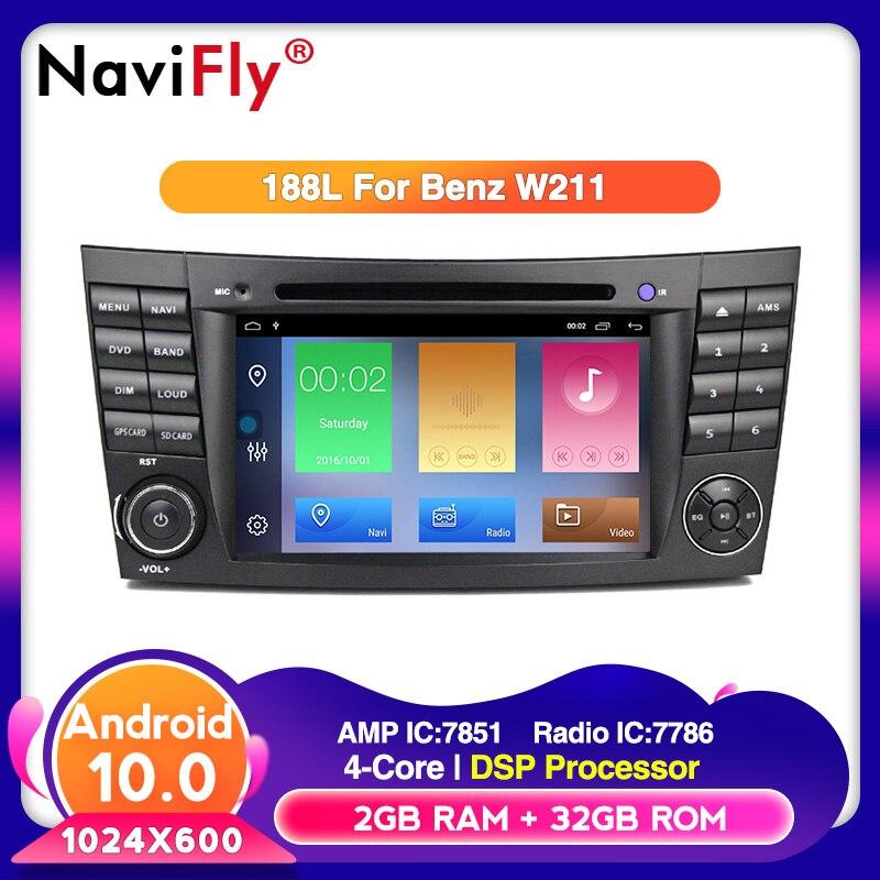 Navifly אנדרואיד 10 תמיכה RDS 2 דין רכב נגן DVD עבור מרצדס בנץ e-class W211 E200 E220 E300 e350 E240 E270 E280 CLS CLASS
