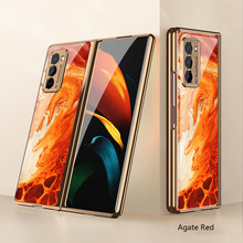 For Samsung Fold2 Case New Fashion Plating PC Phone Cover For Galaxy Z Fold2 Case Luxury Creative Anti Fall Protective Funda