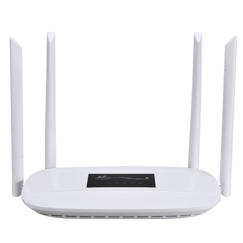 Wireless Wifi Router Mobile Hotspot 3G/4G LTE CPE SIM Card Wired Mode Unlocked 300Mbps W/ 4 Antennas 50-100M Transmission Range