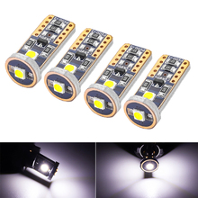 цена на 4Pcs T10 3030 3SMD Super Bright LED  Reading Light Trunk Lamp Parking  License Plate Lights 12V W5W 168 192 194 white Width Lamp