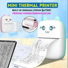 Mini Portable Thermal Printer Paper Photo Pocket Thermal Printer Printing Wireless Bluetooth Printer For Android IOS Printers cheap centechia CN(Origin) Ready-to-Go All Compatible Plastic 200DPI Bluetooth 4 0