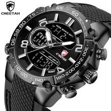 新しいチーターアスレチックスタイルメンズクォーツ時計スポーツビジネスマン時計アラーム防水軍人腕時計レロジオ Masculino