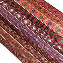Laço de renda bordado étnico vermelho 3 jardas, vermelho, laço, guarnição, diy, acessórios, tecido bordado